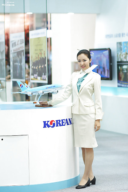 Asian flight attendants pictures for Korean air cabin crew requirements
